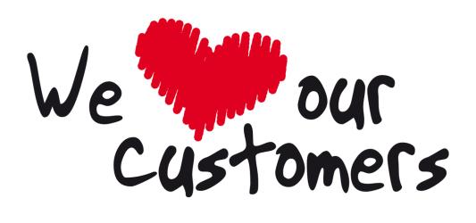 ما مشتریانمان را دوست داریم