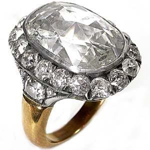 انگشتر الماس rose cut