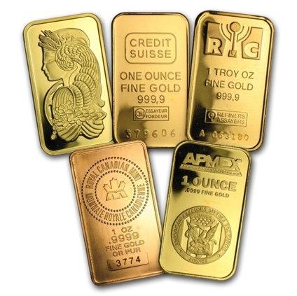 برندهای معروف شمش طلا خارجی