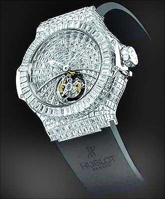 ساعت ساخته شده كمپاني معروف HUBLOT